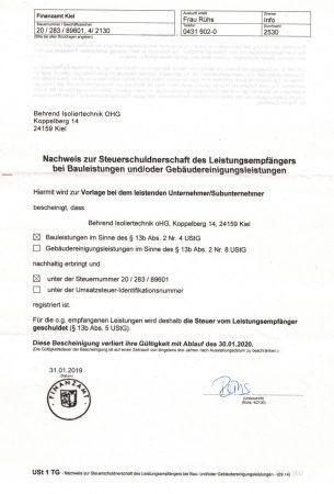 nachweis_steuerschuldnerschaft_behrendiso
